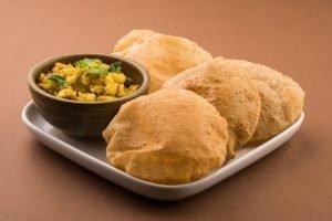 Aloo Puri Vegetarian Dish