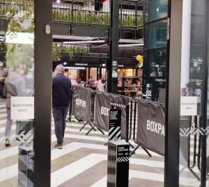Inside the Entrance To Boxpark