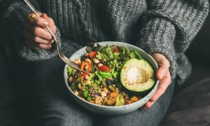 Enjoyable Vegetarian Food with Avocado