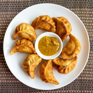 Fried Nepalese momos